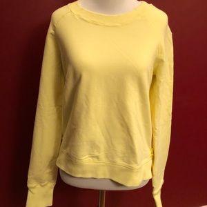 Lululemon Crew Neck Yellow Sweatshirt